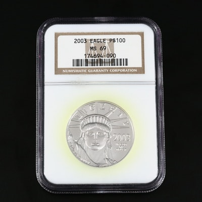 NGC Graded MS69  2003 $100 Platinum Eagle Coin