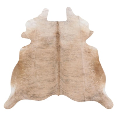 5'3 x 5'11 Light Brown Brindle Cowhide Throw Rug
