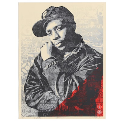 "Shepard Fairey Serigraph ""Chuck D Black Steel (RED)"", 2018"