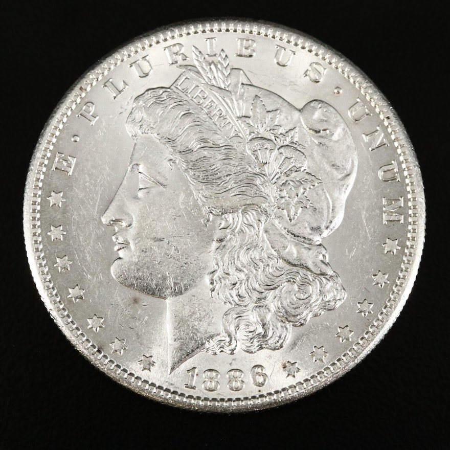 Better Date Low Mintage 1886-S Morgan Silver Dollar