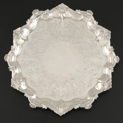 Daniel and Charles Houle Chased Sterling Silver Salver, 1851
