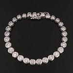 14K Gold 7.27 CTW Diamond Line Bracelet