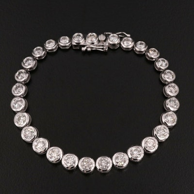 14K Gold 7.27 CTW Diamond Line Bracelet