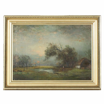 Douglas Arthur Teed Oil Painting of Marsh Landscape