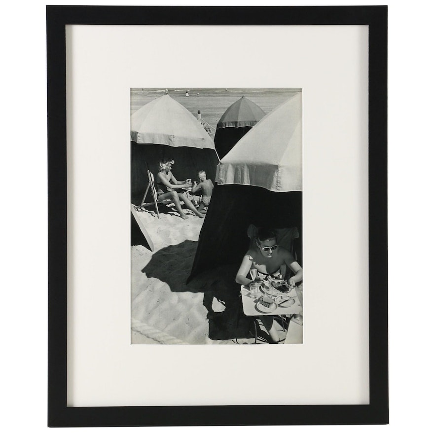 """Henri Cartier-Bresson Heliogravure """"Deauville"""" from """"The Europeans"""", 1955"""