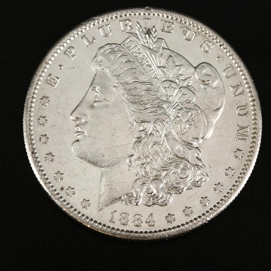 Better Date 1884-S Morgan Silver Dollar