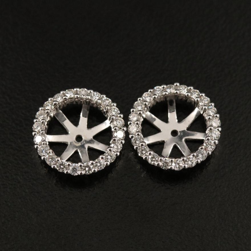 18K Diamond Earring Enhancers