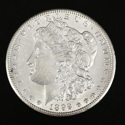 1892-CC Morgan Silver Dollar.
