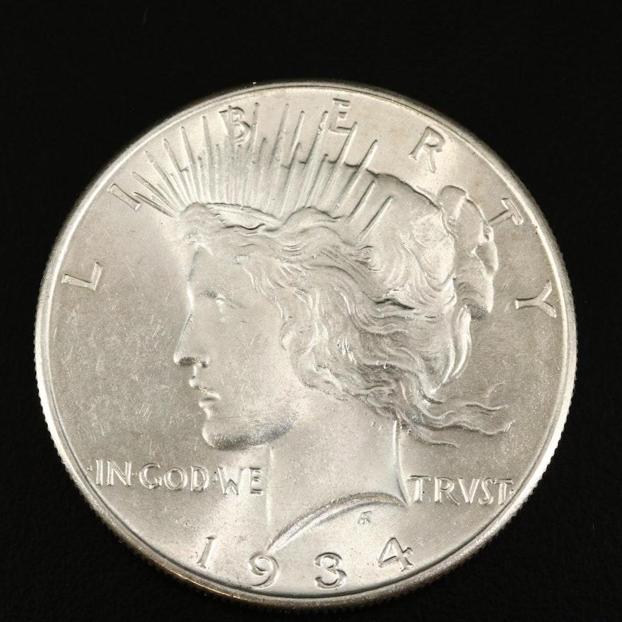 Lower Mintage 1934 Peace Silver Dollar