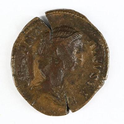 Ancient Roman Imperial AR Sestertius of Crispina, ca. 180 A.D