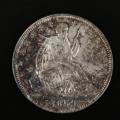 1859-O Seated Liberty Silver Half Dollar