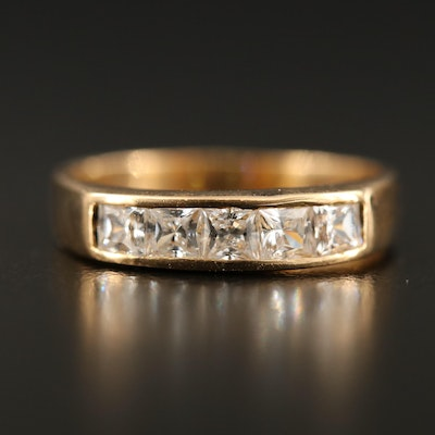 18K Channel Set Cubic Zirconia Band