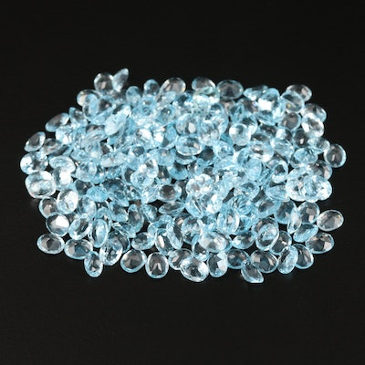 Loose 83.10 CTW Oval Faceted Topaz Selection