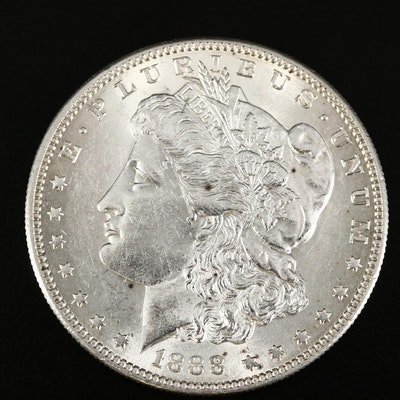 Better Date Low Mintage 1888-S Morgan Silver Dollar