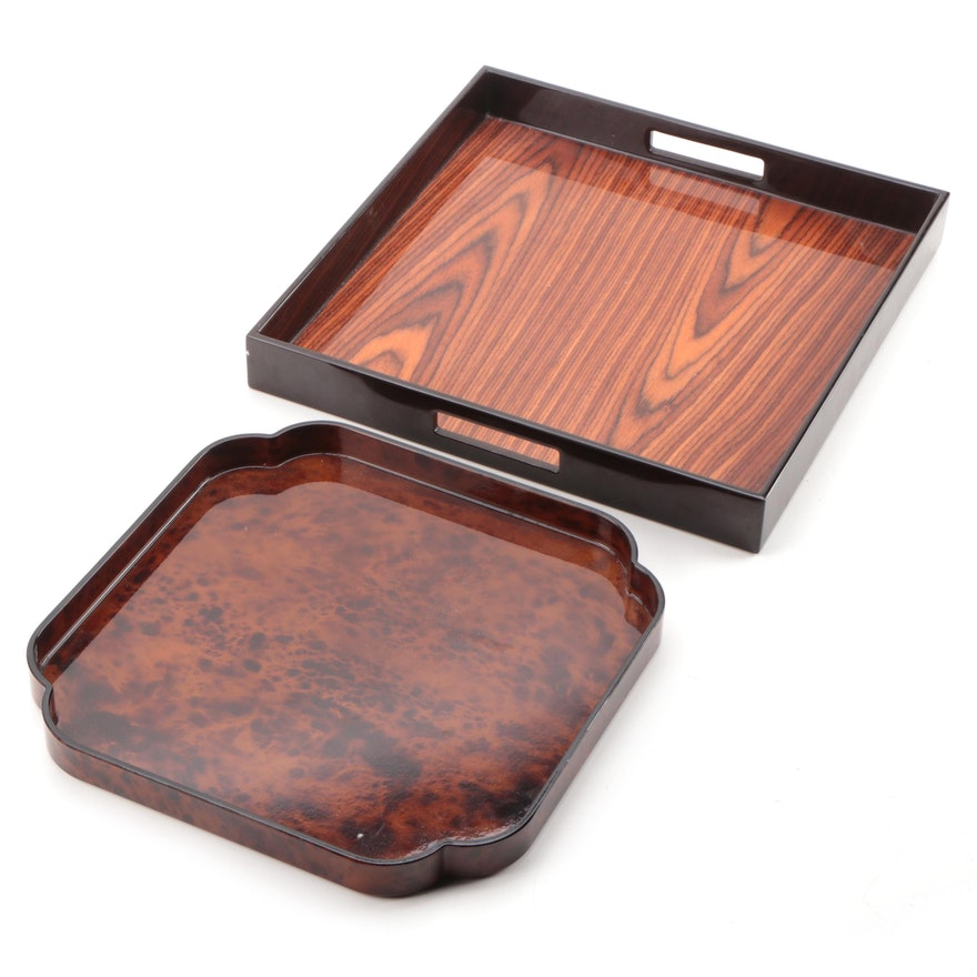 Nancy Calhoun Designs Japanese Tray with Other Laquerware Tray