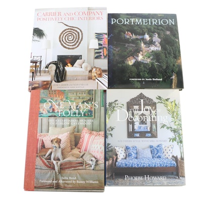 "Signed Design Books Including ""The Joy of Decorating"" and ""One Man's Folly"""