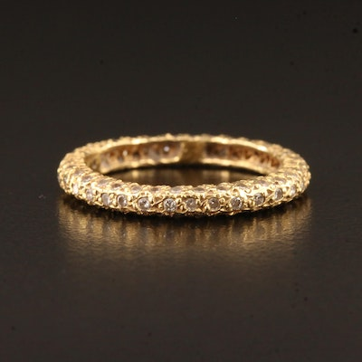 18K Pavé Diamond Eternity Band