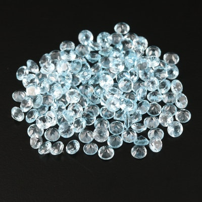 Loose 78.97 CTW Round Faceted Topazes