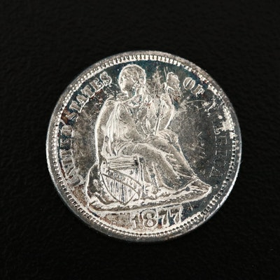 1877-S Seated Liberty Silver Dime