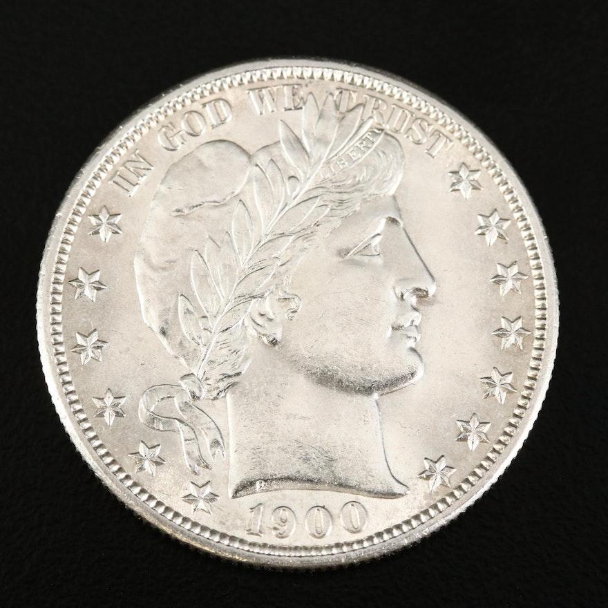 1900 Barber Silver Half Dollar