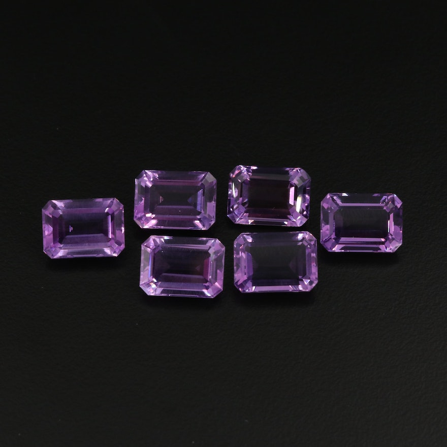 Loose 44.08 CTW Rectangular Amethysts
