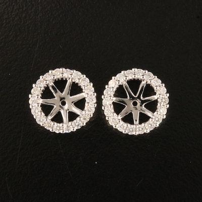 18K Diamond Earring Jackets