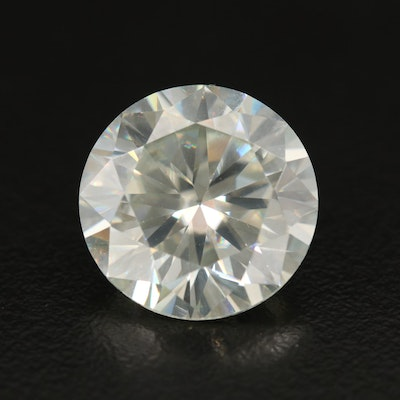 Loose Lab Grown 12.12 CT Round Faceted Moissanite