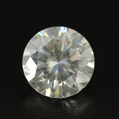 Loose Lab Grown 8.28 CT Round Faceted Moissanite