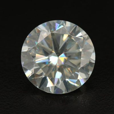 Loose Lab Grown 15.19 CT Round Faceted Moissanite