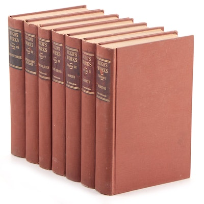 """""""The Works of Victor Hugo"""" Including """"Les Misérables"""" in Five Volumes, 1906"""