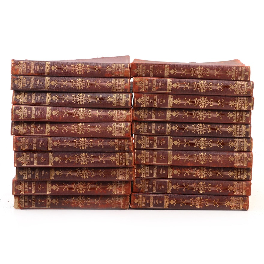 """""""The Book of Knowledge: The Children's Encyclopædia"""" Complete Set, 1912"""
