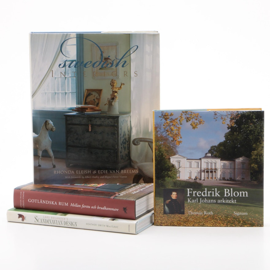 "Scandinavian Design Books Including First Edition ""Swedish Interiors"""
