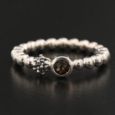 Michael Dawkins Sterling Smoky Quartz Ring