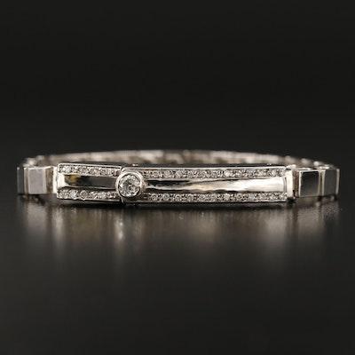 Karisma 14K Link Bracelet with 18K Diamond Bar Clasp