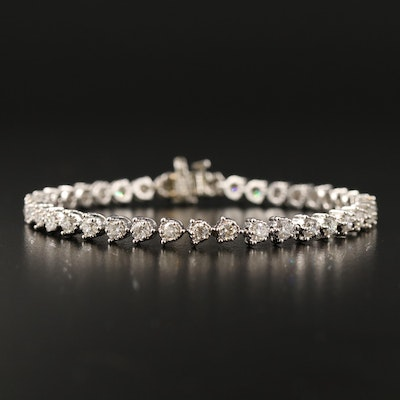 14K 3.02 CTW Three Prong Illusion Set Diamond Line Bracelet