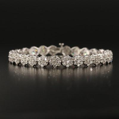 14K 7.62 CTW Diamond Line Bracelet