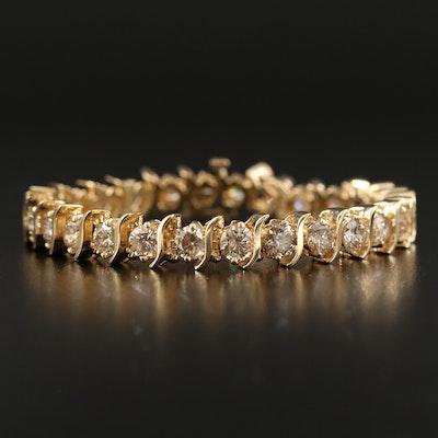 14K 12.10 CTW Diamond S-Link Bracelet