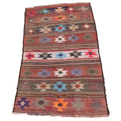 4'2 x 6'10 Handwoven Persian Kilim Area Rug