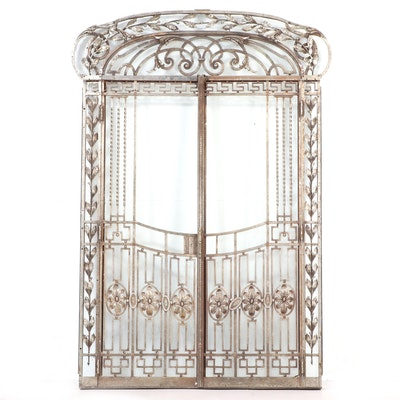Beaux-Arts Wrought Iron Door Set, 20th Century