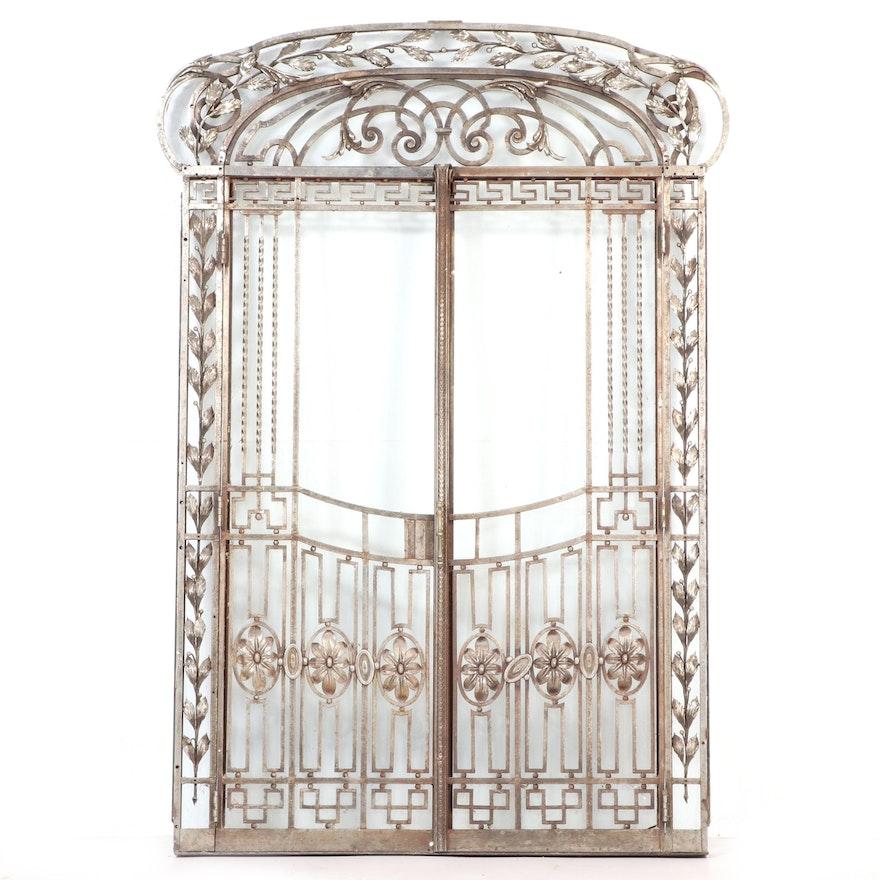 Beaux-Arts Wrought Iron Door Set, 20th Century