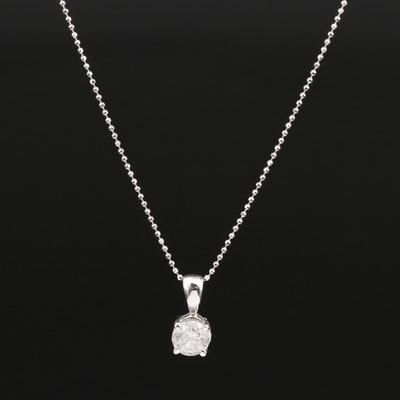 14K 0.94 CT Diamond Solitaire Necklace