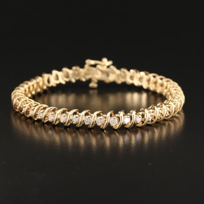 14K 3.02 CTW Diamond Line Bracelet