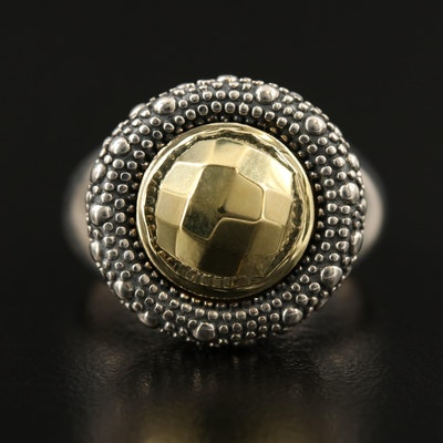 Michael Dawkins Sterling Textured Dome Ring