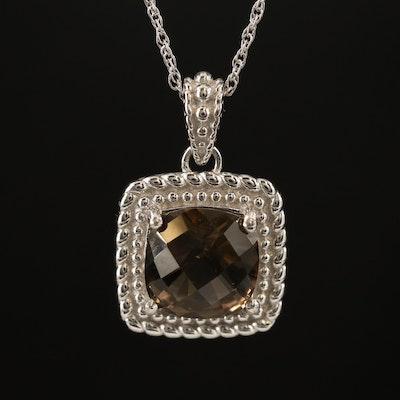 Sterling Silver Smoky Quartz Necklace