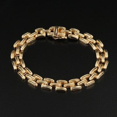 14K Panther Chain Bracelet