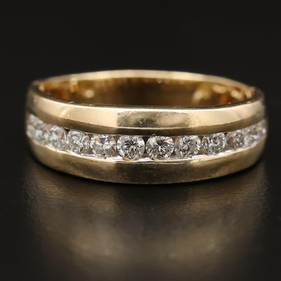 14K 1.02 CTW Diamond Channel Band
