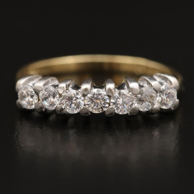 14K Two-Tone Cubic Zirconia Ring