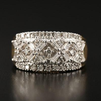 14K 1.02 CTW Pavé Diamond Ring