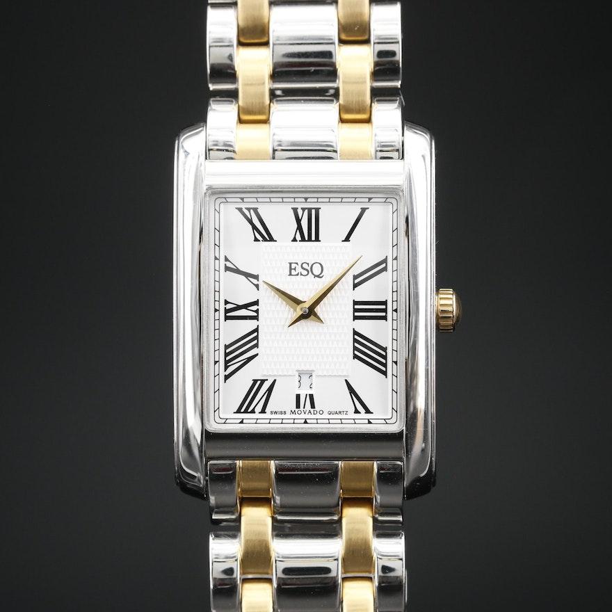 ESQ By Movado Two Tone Stainless Steel Quartz Wristwatch