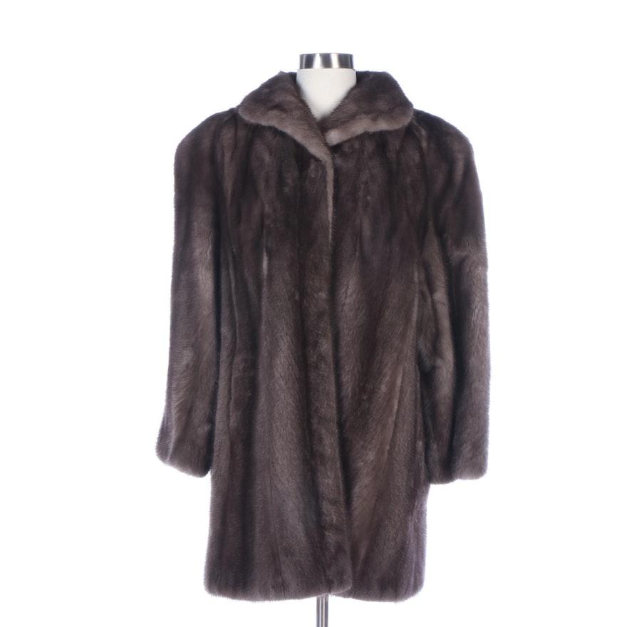 Fettner Friedman Furs Corded Grey Mink Fur Stroller